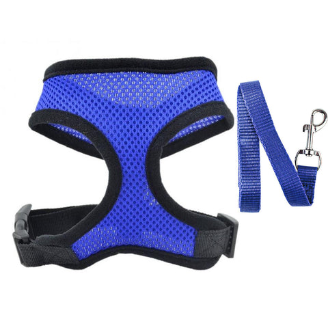 Breathable and comfortable Dog Cat Vest Harness and Leash Set is made for smaller breeds to distribute the pressure through the chest and shoulders, not on the neck.