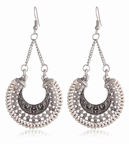 Bohemian Tibetan Vintage Round Drop Style Earrings