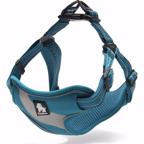 Dog Harness - No-Pull, Adjustable, Soft Padded with Reflective Stripe and Trim