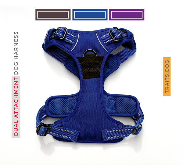 Dual Clip Dog Vest Harness with Handle - Reflective Weatherproof Harness for Larger Breeds, Dog Sport Harness