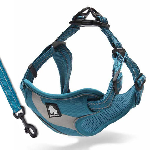 Well-constructed Dog Sport Reflective Vest Harness and Leash is made of premium quality, weatherproof materials and durable hardware. Safe, comfortable, convenient and durable for walking, running, hiking and riding in vehicles. NOT RECOMMENDED FOR DOGS UNDER 10 lbs.