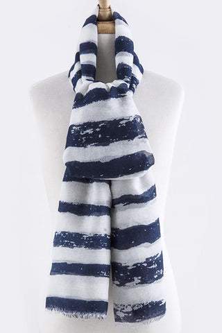 Stripe Design Oversized Scarf