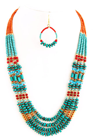 Tribal Style Necklace Set