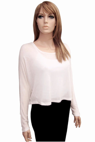 Silky Cropped Top in Two Colors