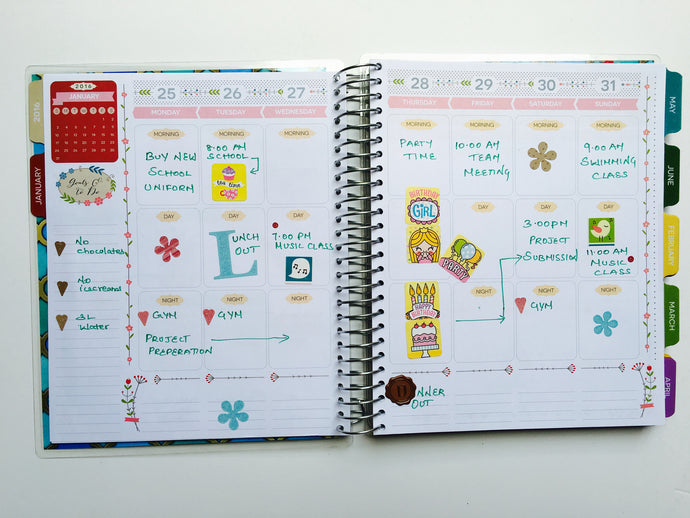 EVERYDAY PLANNER | JANUARY MONTHLY