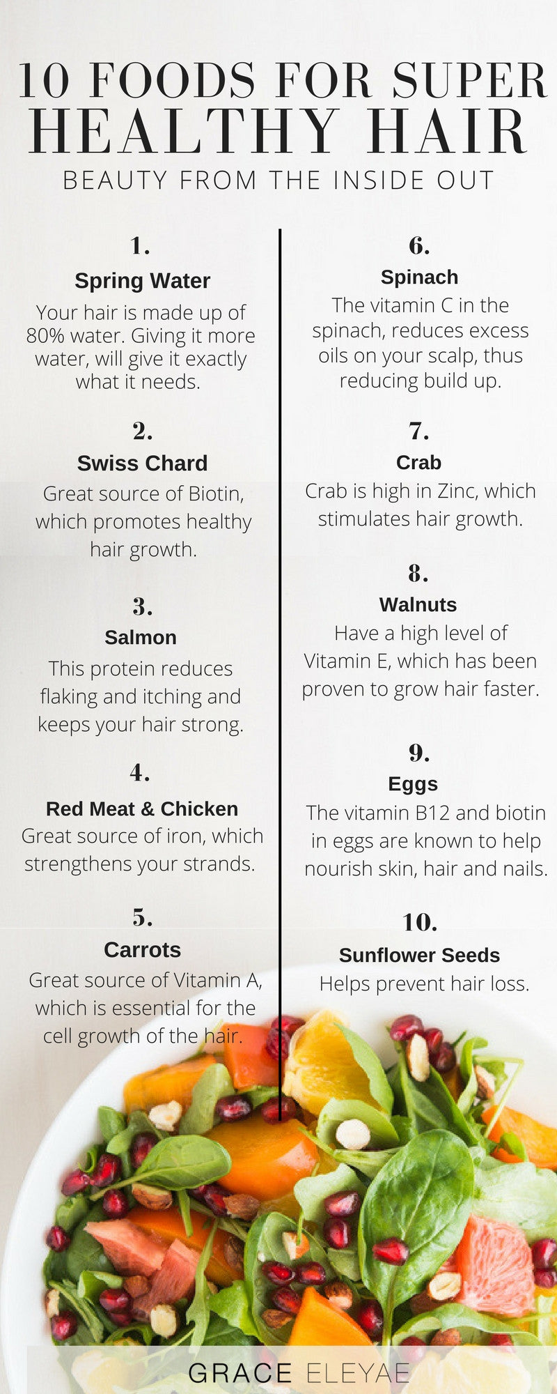 10 Amazing Foods for Super Healthy Hair