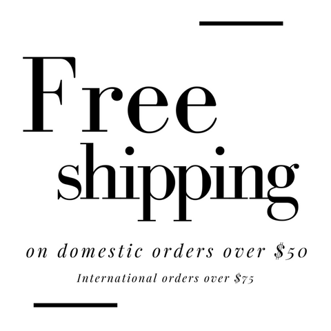 Grace Eleyae: Free Shipping on orders over $50 and $75 for international orders