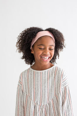 Kid Satin-Lined Headband - Blush
