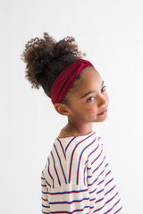 Kid Turban Style Headband - Wine