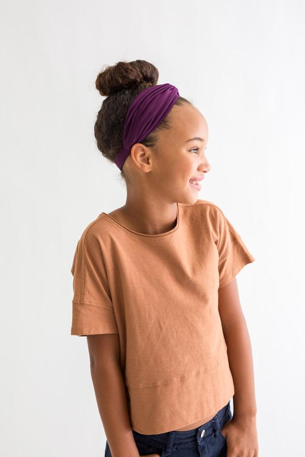 Kid Turban Style Headband - Purple