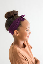 Kid Headband w Bow - Purple