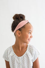 Kid Turban Style Headband - Blush