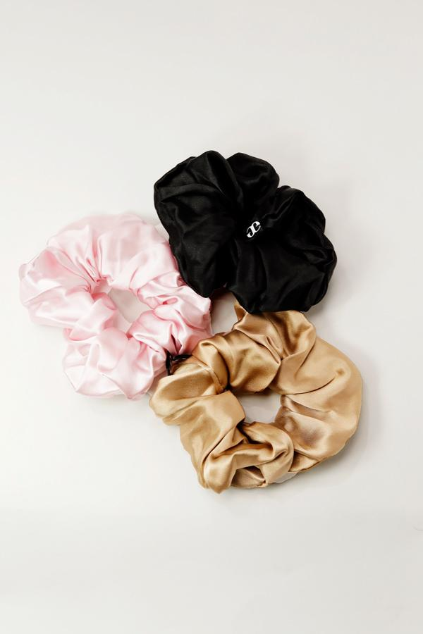 Thick Silk Scrunchie - 3 Pack
