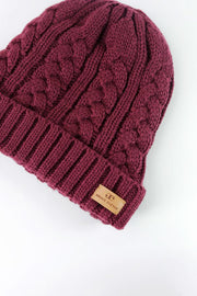 Wine Red Foldover Warm Slap