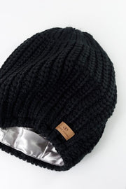 Black Slouchy Warm Slap