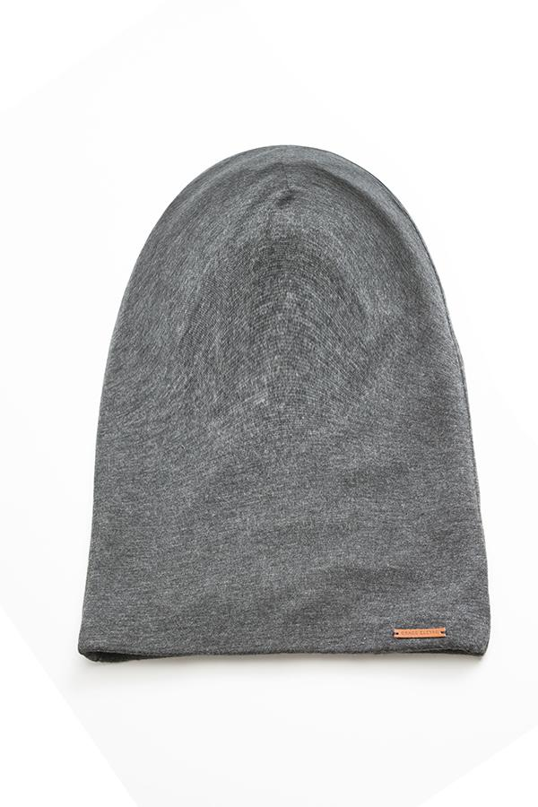 Gray Extra Long Slap | Satin-Lined Cap