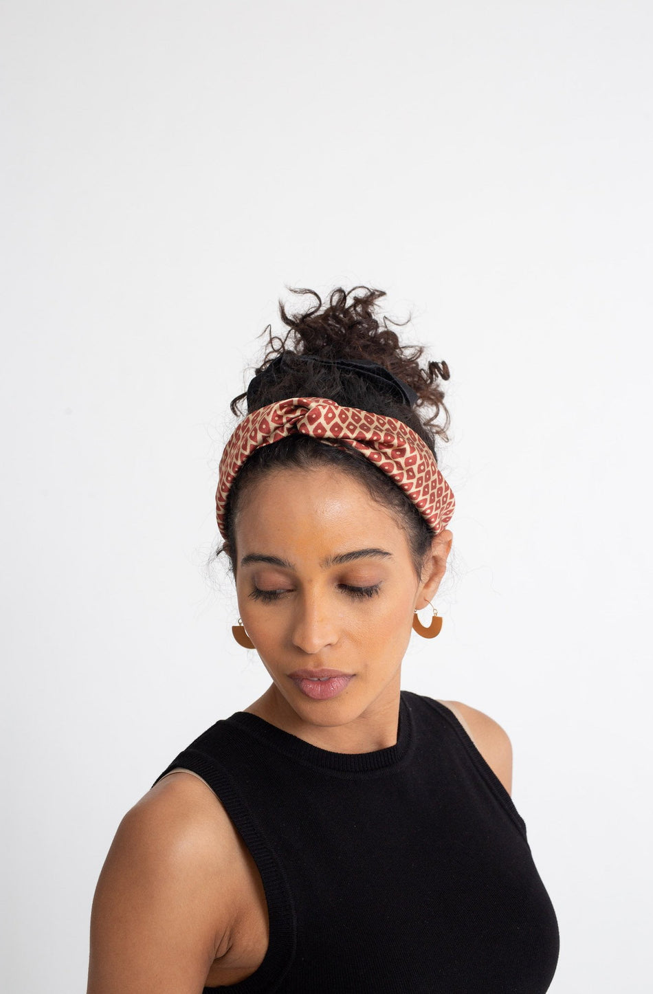 Silk Turban Style Headband - Diamond