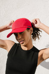 Red Satin-Lined Baseball Hat