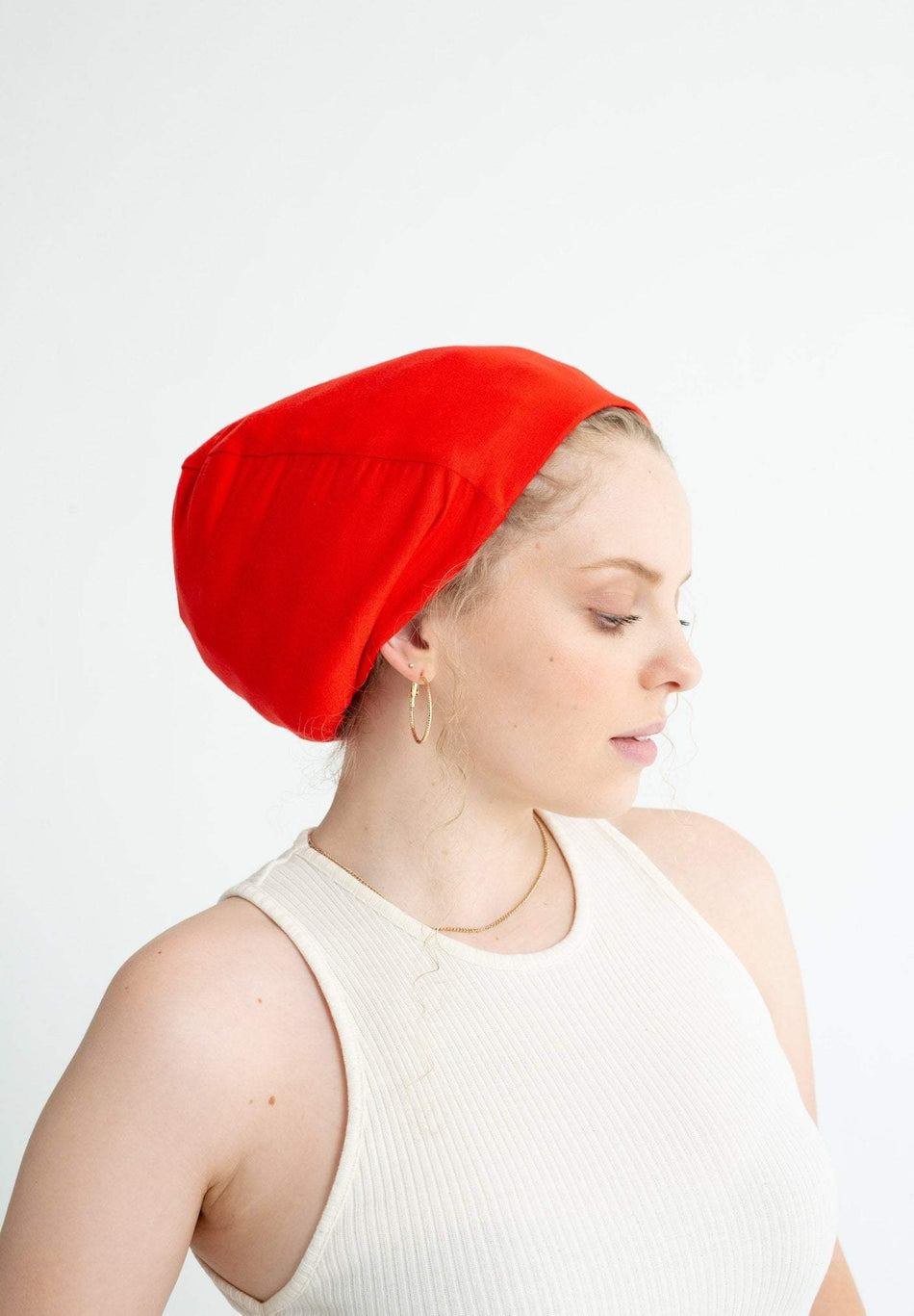 Red Adjustable Slap | Satin-Lined Cap