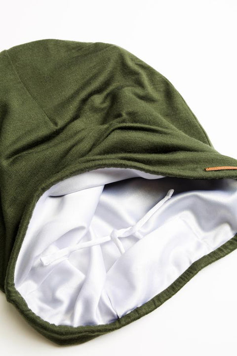 Olive Adjustable Slap | Satin-Lined Cap