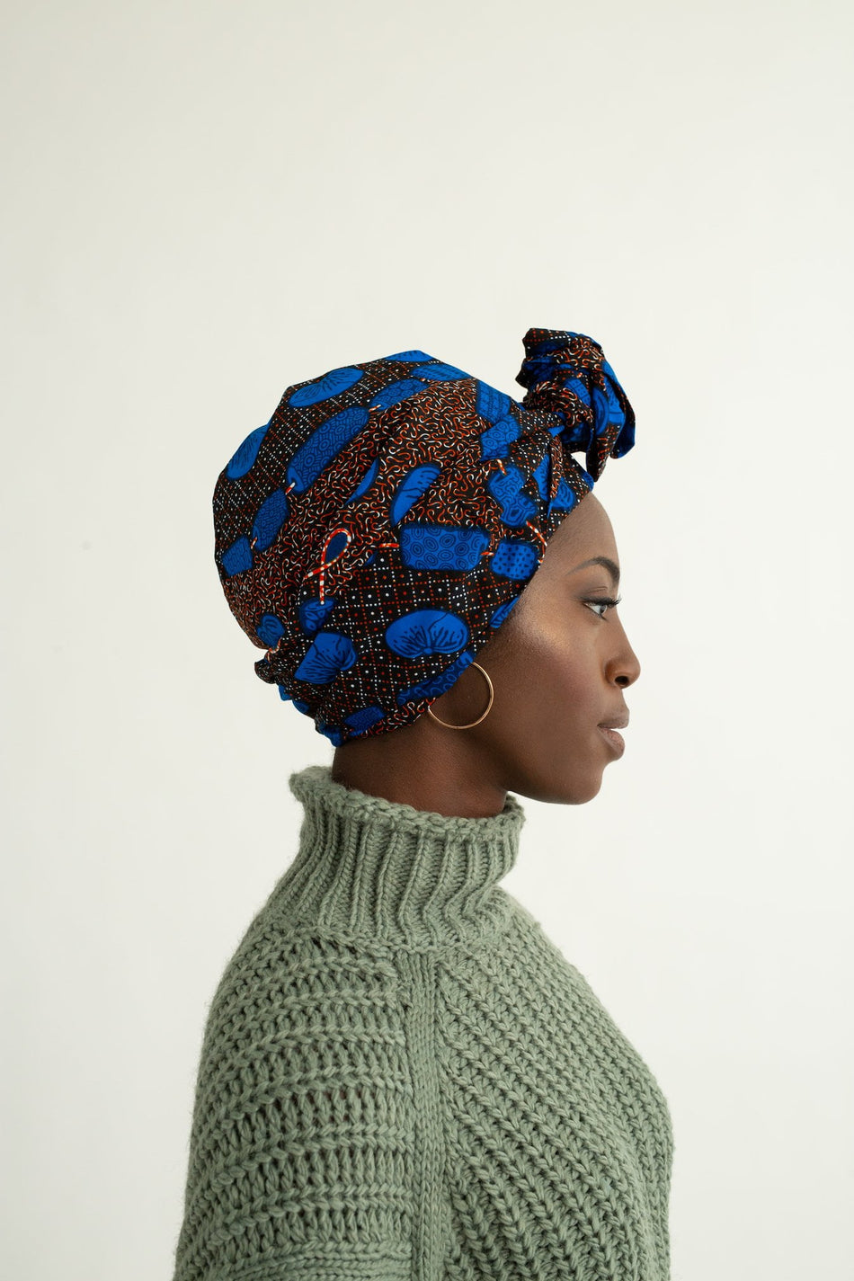 Kissa Print Wire Turban