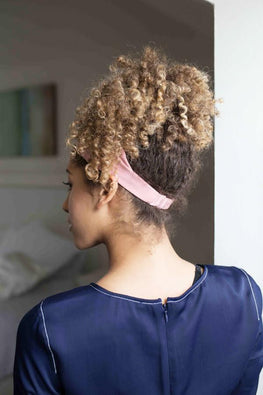 Grace Eleyae Headbands Satin-Lined Headband - Blush