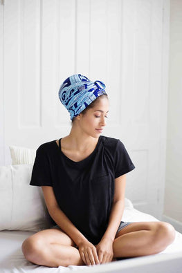 Lola Satin-Lined Knot Turban