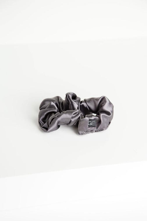 Grace Eleyae Thin Satin Scrunchie - Gray