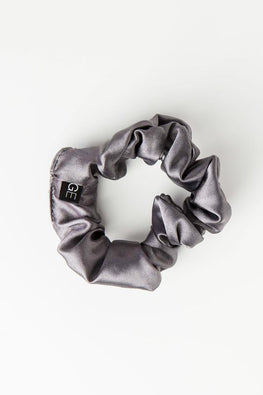 Satin Scrunchie - Gray