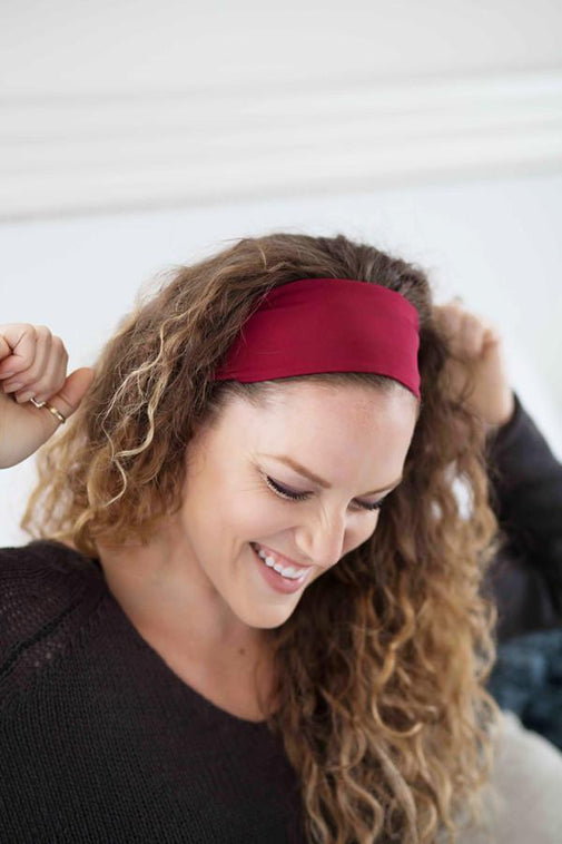 Grace Eleyae Headbands Jersey Knit Headband - Wine