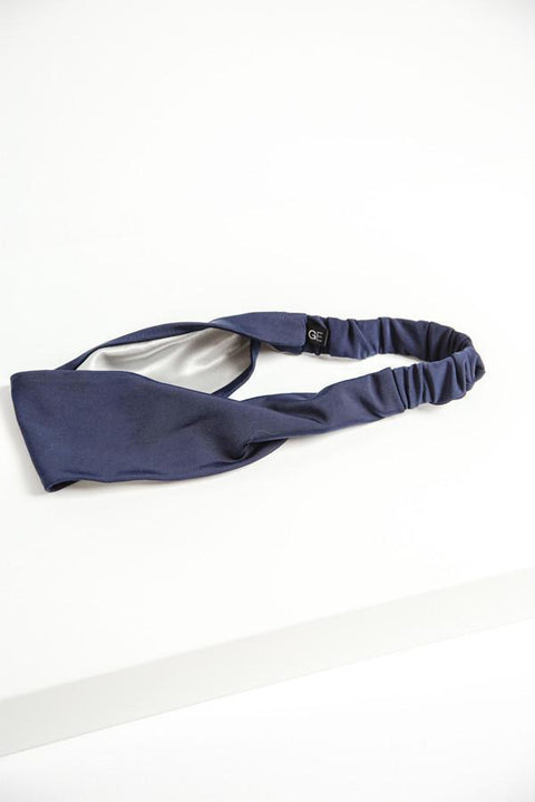 Grace Eleyae Headbands Satin-Lined Headband - Navy