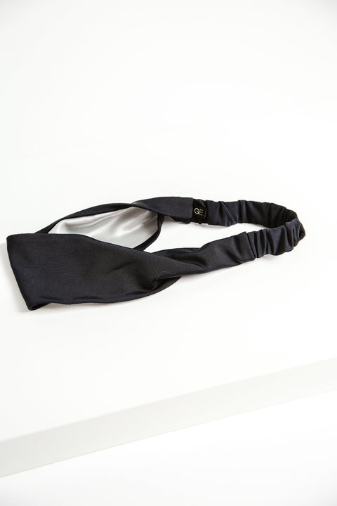 Satin-Lined Headband - Black
