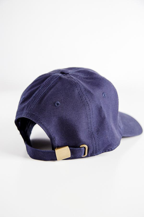 Grace Eleyae Hats Navy Blue Satin-Lined Baseball Hat