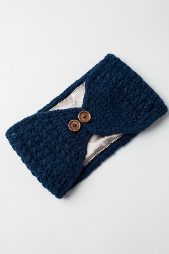 Navy Adjustable Warm Headband