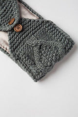 Gray Adjustable Warm Headband
