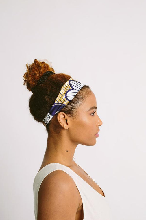 All-Satin Elastic Headband - Malaika