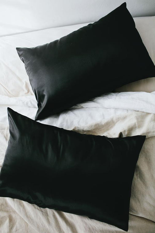 Black | Satin Pillowcase