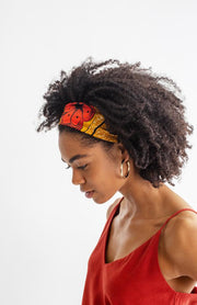 All Silk Headband - Mustard Floral