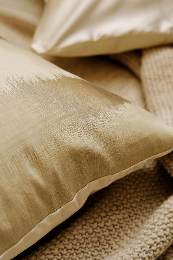 Tan Striped Throw Pillowcase
