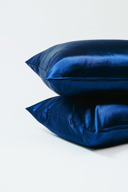 Navy | Satin Pillowcase