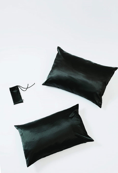 Black | Silk Pillowcase