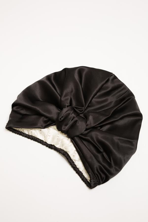 All Silk Turban - Black