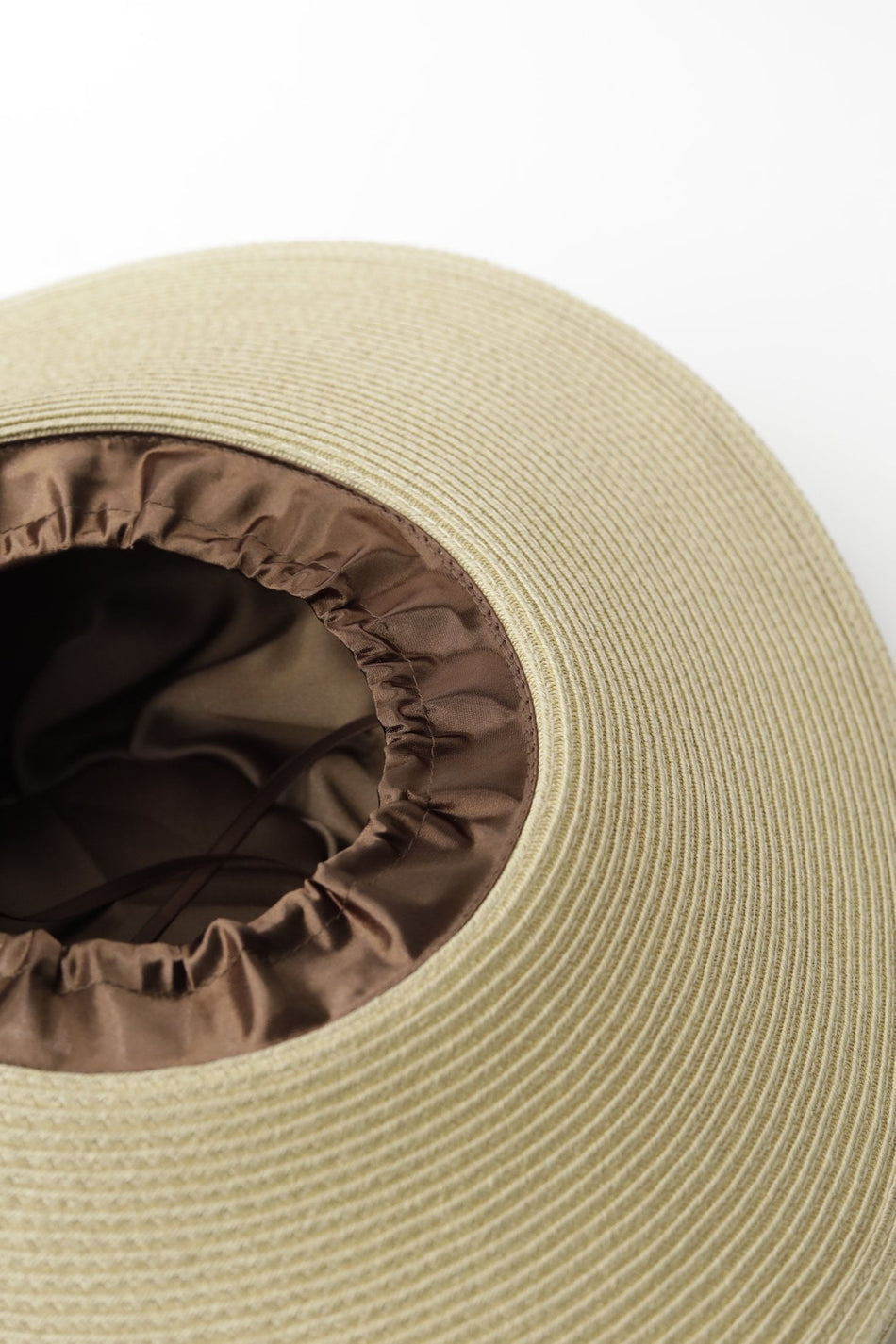Isabella Satin-Lined Straw Hat