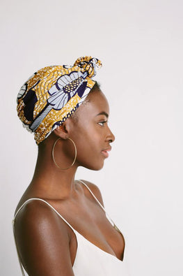 Malaika Satin-Lined Knot Turban