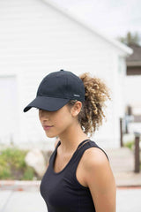 Grace Eleyae Hats Black Satin-Lined Baseball Hat