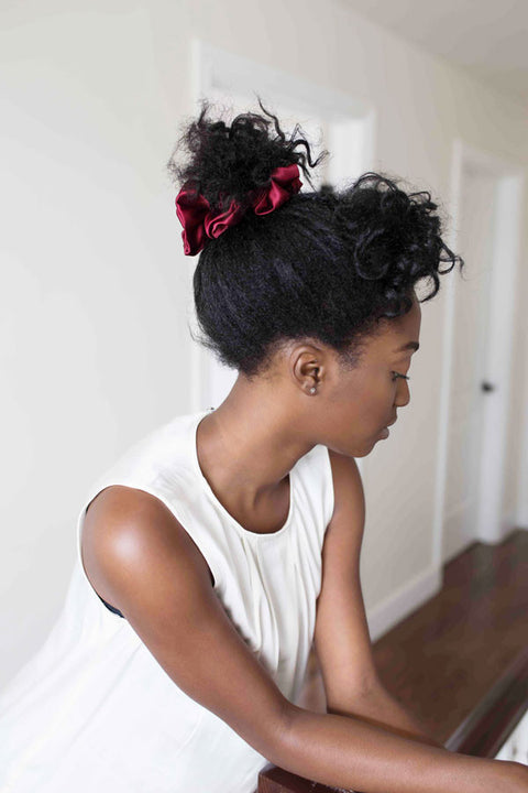 Grace Eleyae Scrunchies Satin Scrunchie - Burgundy