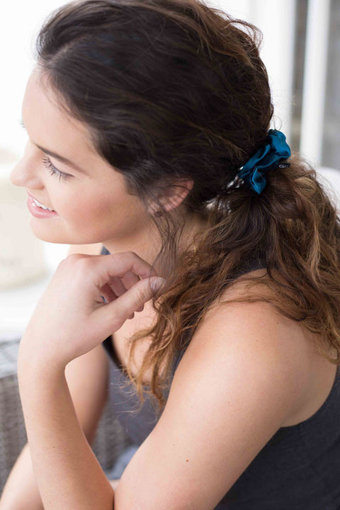 Grace Eleyae Scrunchies Satin Scrunchie - Teal