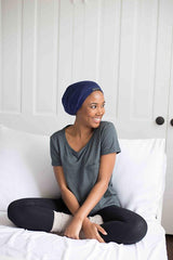 Grace Eleyae Slaps Navy Slap | Satin Lined Cap