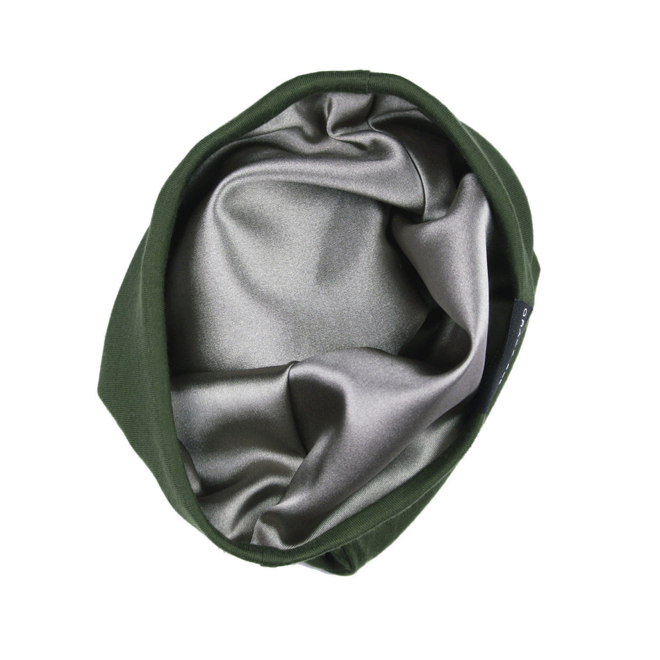 Grace Eleyae Slaps Olive Green Slap | Satin Lined Cap