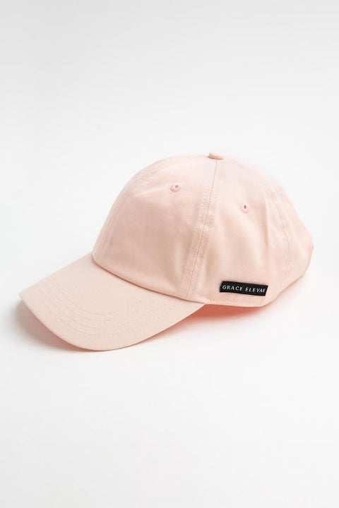 Pink Satin-Lined Baseball Hat